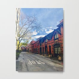 STOP For Brooklyn Heights Brownstone Red Brick Love Metal Print