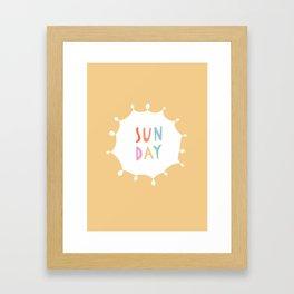 Sunday in Yellow Framed Art Print