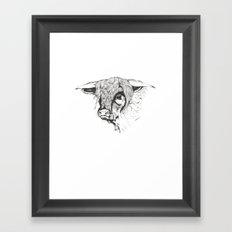 Hairy Cow Framed Art Print