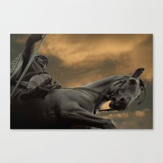 Statue of Wenceslas, Wenceslas Square, Prague Canvas Print
