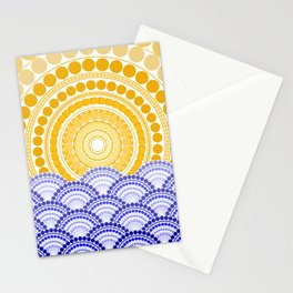 LIGHT OF DAWN (abstract tropical) Stationery Cards