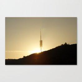 Collserola tower Canvas Print