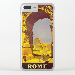 Vintage poster - Rome Clear iPhone Case