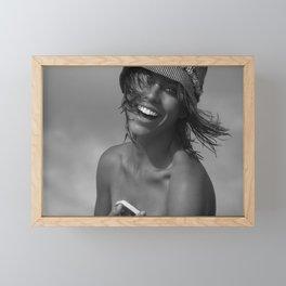 7556 La Belle Rachael enjoying Delray Beach Framed Mini Art Print