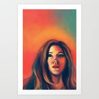 amy pond Art Prints featuring Amy Pond by Alexia Bonfield