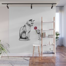 Doting Chipmunk Wall Mural