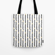 Black and Gold Skull Dots Tote Bag
