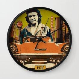 Retro Cuba design with car & Che Guevara Wall Clock
