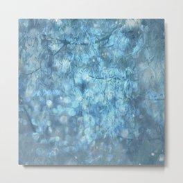 MYSTICAL BLUE WINTER Metal Print
