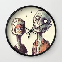 zombies Wall Clocks featuring Zombies! by Peerro