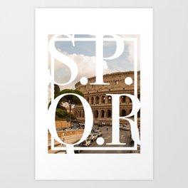 S.P.Q.R Art Print