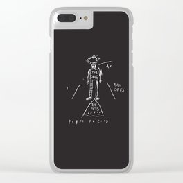 Vectorised Basquiat 80s Punk Rock / ska record cover Clear iPhone Case