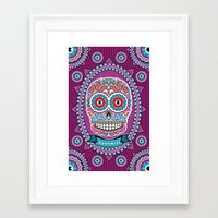 mexican Framed Art Prints featuring Mexican Skull by Xonomitl