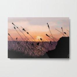 The Sunset on the Sea. Metal Print