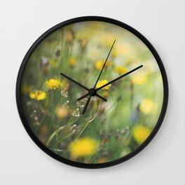 Dandelion flowers Wall Clock