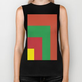 Very squared and precise and rectangular. Very very angular crafted shapes. Nothing else to say. Biker Tank