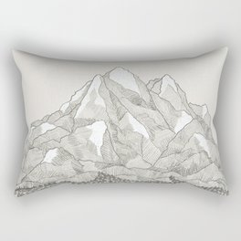 The Mountains and the Woods Rectangular Pillow