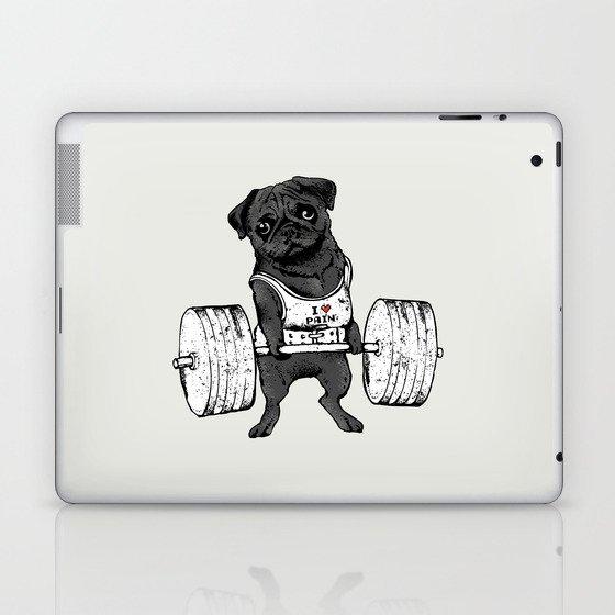 Black Pug Lift Laptop & iPad Skin