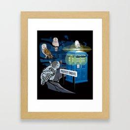 Hedwig Says Who! Framed Art Print