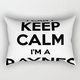 I cant keep calm I am a BAYNES Rectangular Pillow