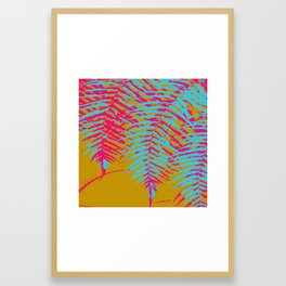 colorful tropics Framed Art Print