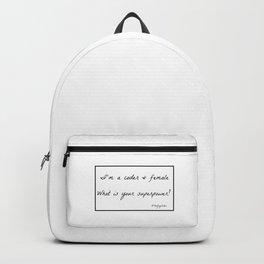 I´m a coder & Female superpower Backpack