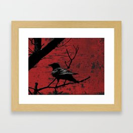 Crow Rust Industrial Red A673 Framed Art Print