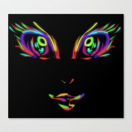 Neonified (black) Canvas Print