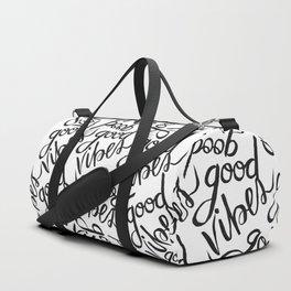 Good Vibes Pattern Duffle Bag