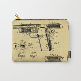 Browning Firearm Support Patent Drawing From 1911 Carry-All Pouch