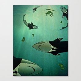 MORAL BANKRUPTCY Canvas Print