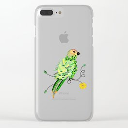 Bird of Costa Rica, parakeet Clear iPhone Case