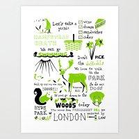 parks Art Prints featuring London Parks by Daniel Gray