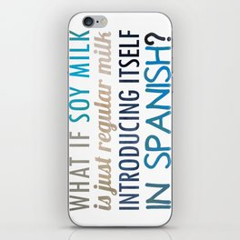 What if soy milk... iPhone Skin