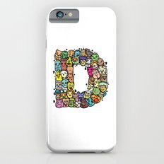 Alphabet D. The alphabet series of 26 letters making up from weirdorables doodle characters. iPhone 6s Slim Case