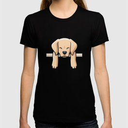 Cute Labrador dog puppy retro gift T-shirt