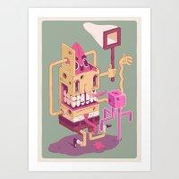 spongebob Art Prints featuring Spongebob by Mike Wrobel