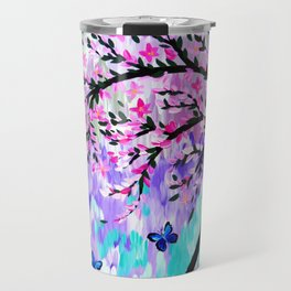 cherry blossom with Ulysses butterflies Travel Mug