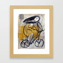 Girl On Bike Framed Art Print