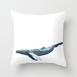 Galactic Whale Throw Pillow