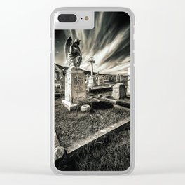 Great Orme Graveyard Clear iPhone Case