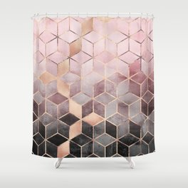 pink grey shower curtain. Pink And Grey Gradient Cubes Shower Curtain Curtains  Society6