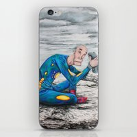 spaceman iPhone & iPod Skins featuring Spaceman by Neal Julian