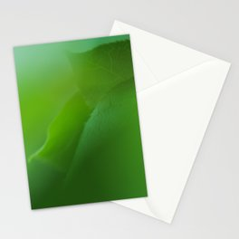 Close up of green leaves. Background. Stationery Cards