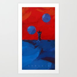 Arrakis, Source of the spice Art Print