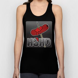 Horrorshow Hot Dog Logo - Cocktail Weenie variant Unisex Tank Top
