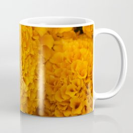 Golden Marigold Flowers Close up Coffee Mug