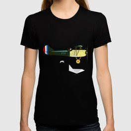 Curtiss Jenny JN 4D pioneer of flight Ameli Lost poster vintage aircraft sky and clouds air picture T-shirt
