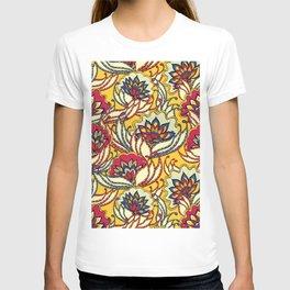 Vintage Lotus Flowers T-shirt