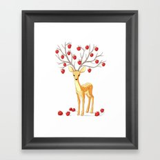 Autumn Fawn Framed Art Print
